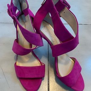Jessica Simpson hot pink shoes